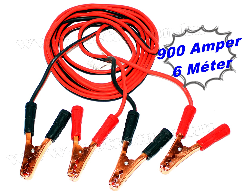 Indítókábel, bikakábel 900 Amper 6 Méter  M900A6M