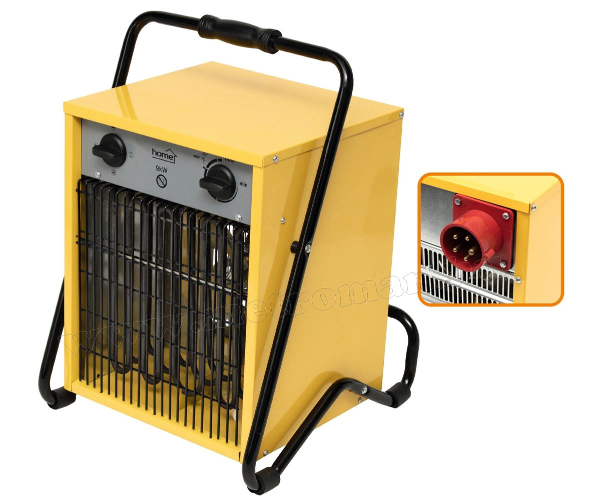 Ipari elektromos ventilátoros fűtőtest, hősugárzó 9000 Watt HOME FKI 90