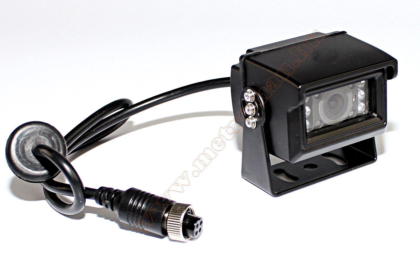 "Kamion, teherautó, targonca, munkagép ipari 2 kamerás tolatókamera szett 7"" LCD QUAD LCD monitorral MM3659-QUAD-MT554X2"