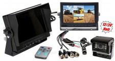 """Kamion, teherautó, targonca, munkagép ipari tolatókamera szett 7"""" LCD QUAD LCD monitorral MM3659-QUAD-MT554"""