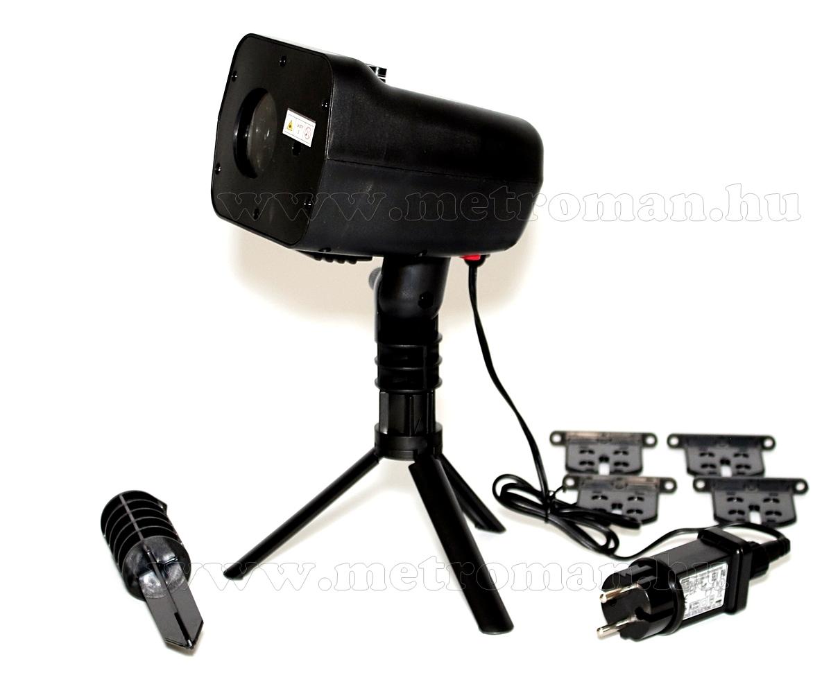 Kültéri színes LED és Lézer fény projektor, kerti hangulat világítás, 5 motívumos MDL IP5 Dual