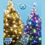 Karácsonyi kültéri LED égősor, Fényfüzér, LED 105/WW/M Dual Color