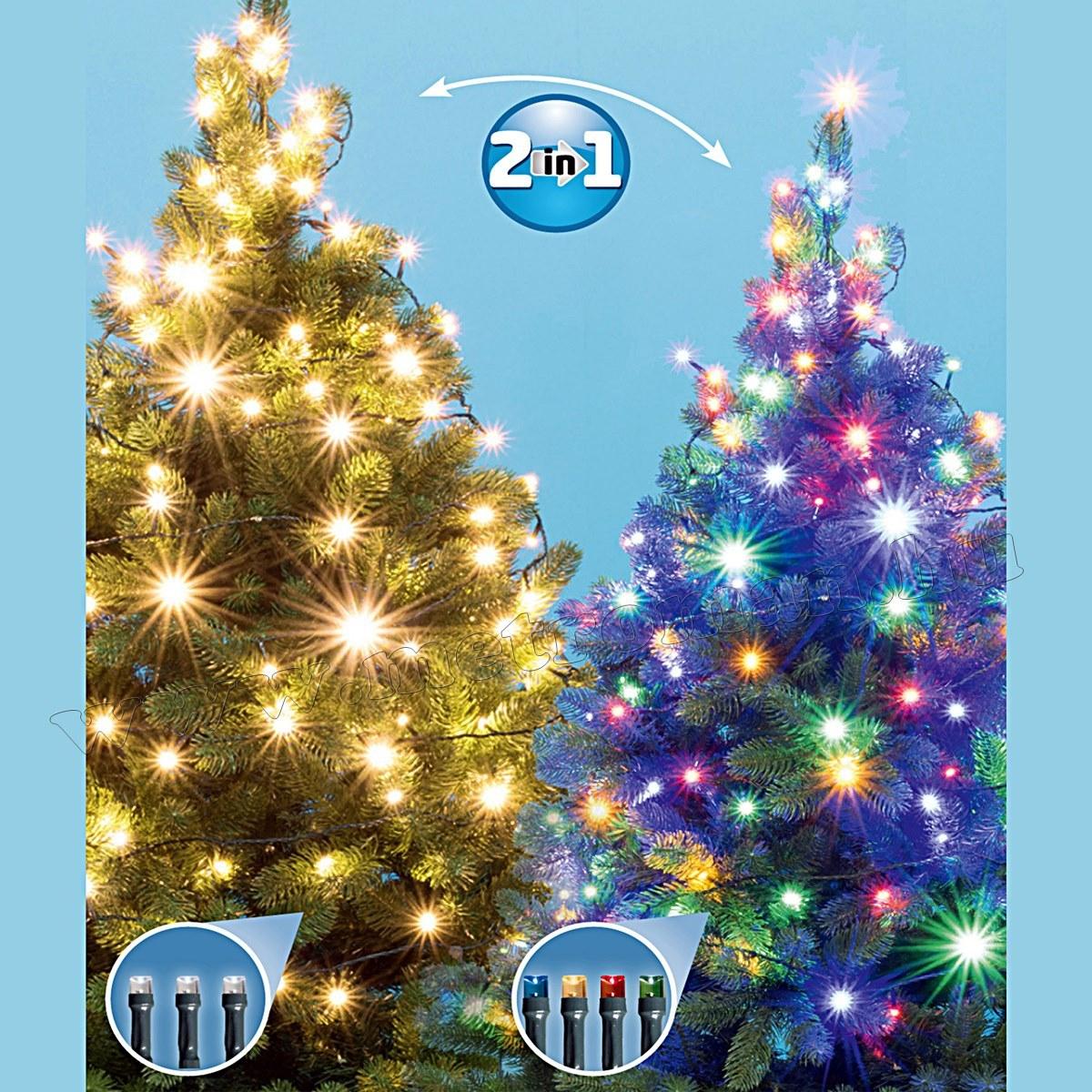 Karácsonyi kültéri LED égősor, Fényfüzér, LED 205/WW/M Dual Color