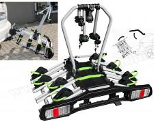 Autós kerékpártartó, kerékpárszállító vonóhorogra, Dönthető TB-006D4 LED