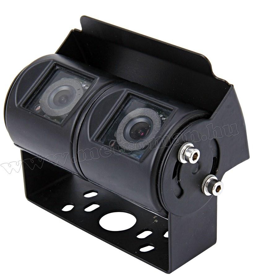 Kétkamerás fémházas tolatókamera Mlogic MM-8330B