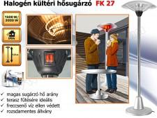 Elektromos kültéri terasz hősugárzó, Halogén fűtőtest, 3000W  FK 27