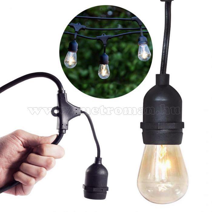 Sorolható kültéri Retró LED izzós kerti fényfüzér M0933/1