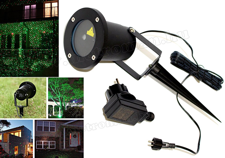 Kültéri színes Lézer fény projektor, kerti hangulat világítás M0760/1