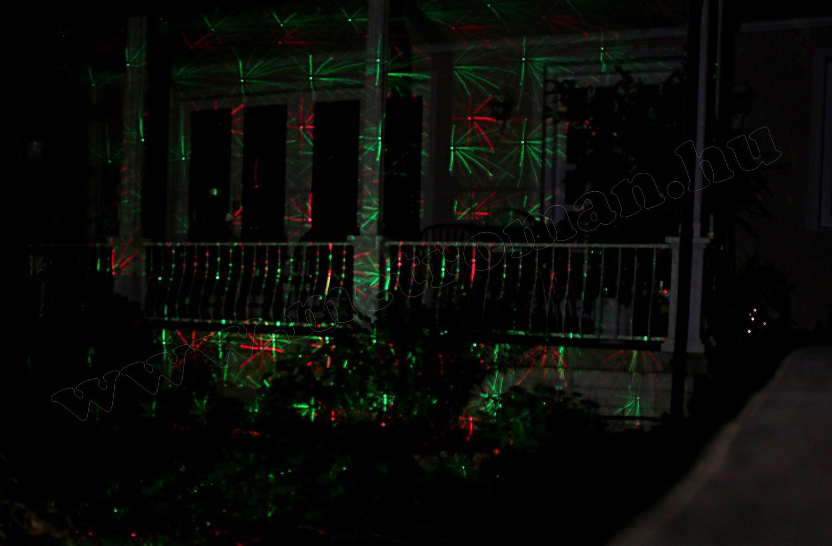 Kültéri színes Lézer fény projektor, kerti hangulat világítás MDL IP3