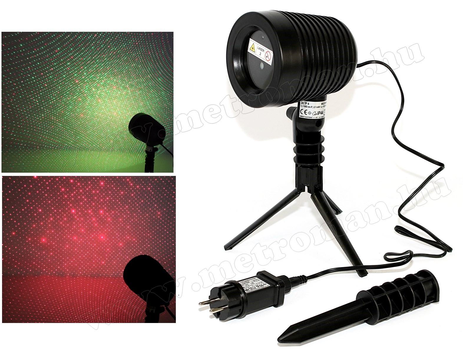 Kültéri színes Lézer fény projektor, kerti hangulat világítás MDL IP 4
