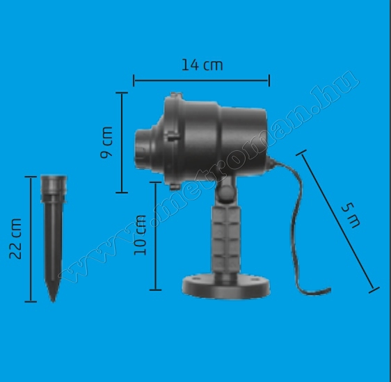 Kültéri LED projektor Télapó és Rénszarvas mintás MDL IP6