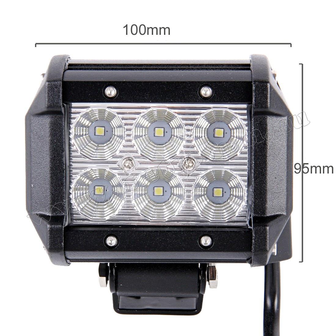 Autó LED fényszóró, LED munkalámpa 18 Watt , MLD-18W