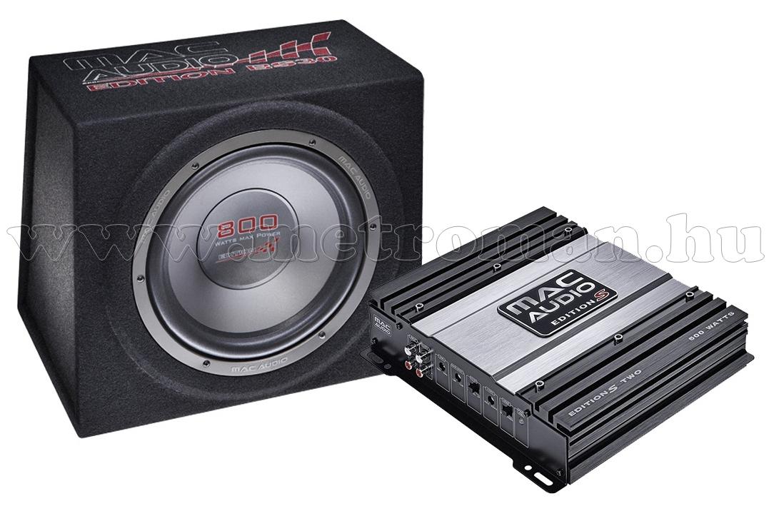 MacAudio Edition S2 BS30 mélyláda + S-TWO autóerősítő csomag