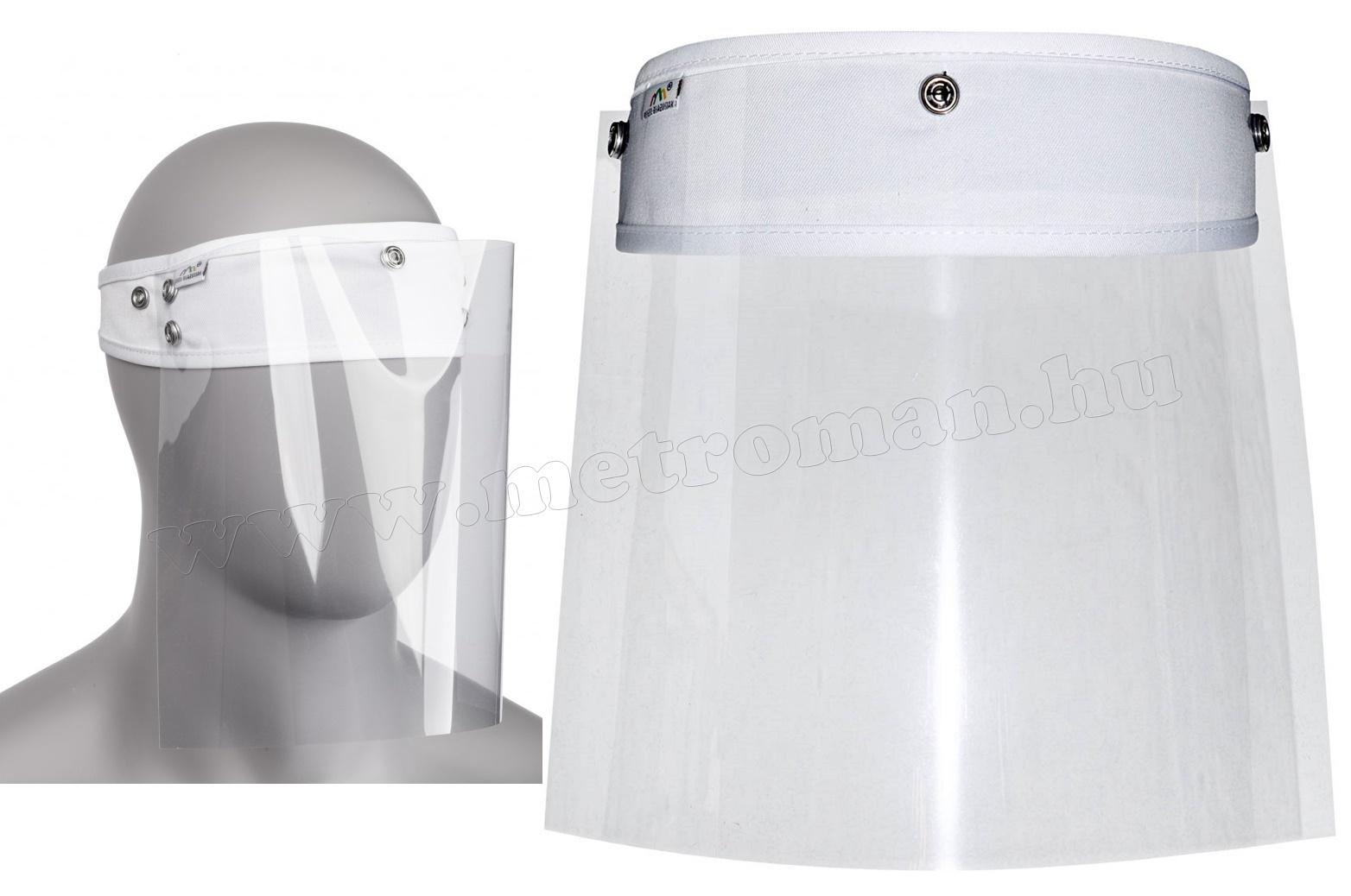 Maszk, Arcvédő plexi fejpánttal MM1080