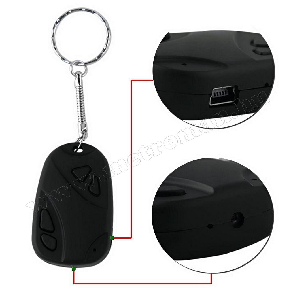 Mini SD kártyás, kulcstartó kamera MK162