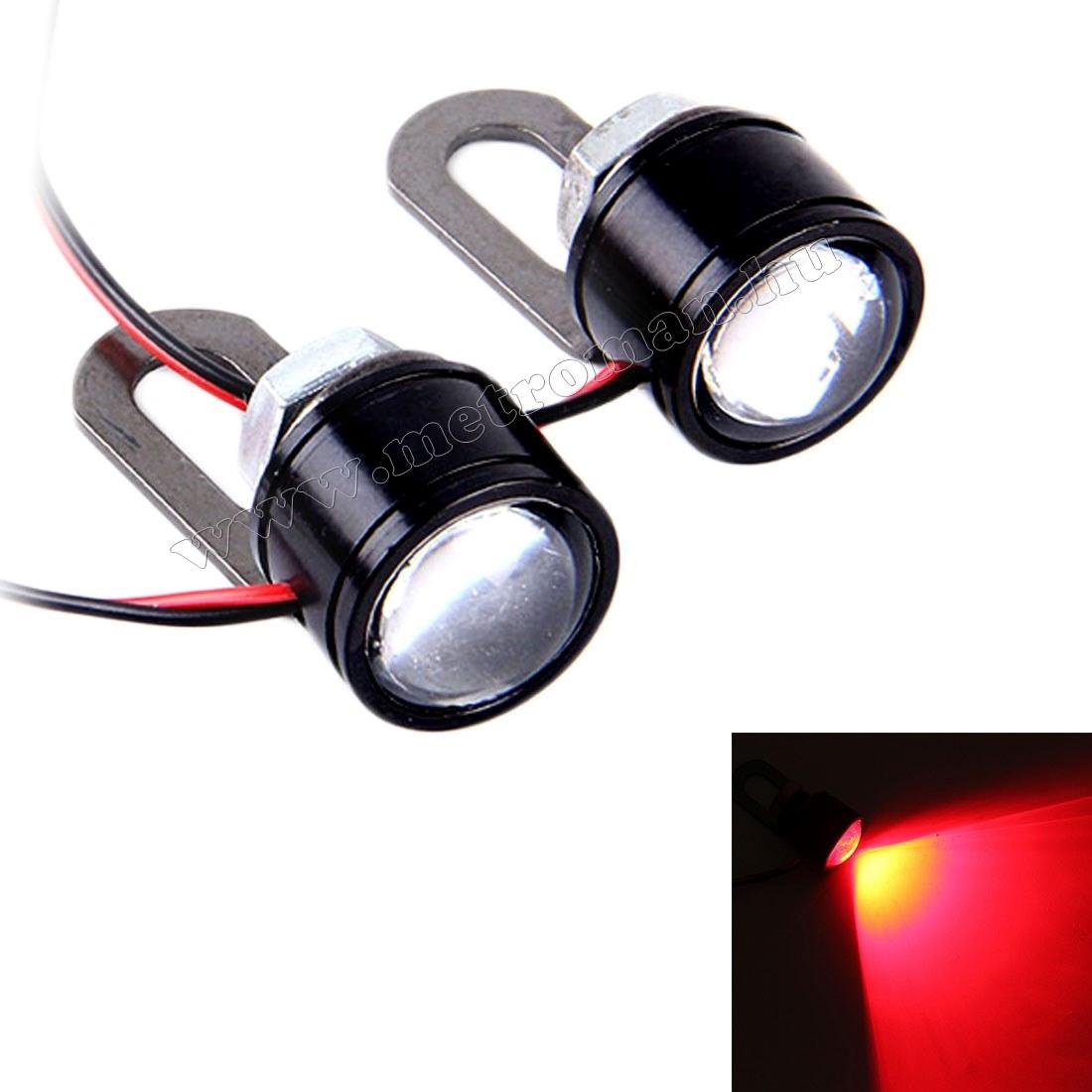 Mini fémházas LED stroboszkóp lámpa szett, Piros Mlogic MM-1033RL