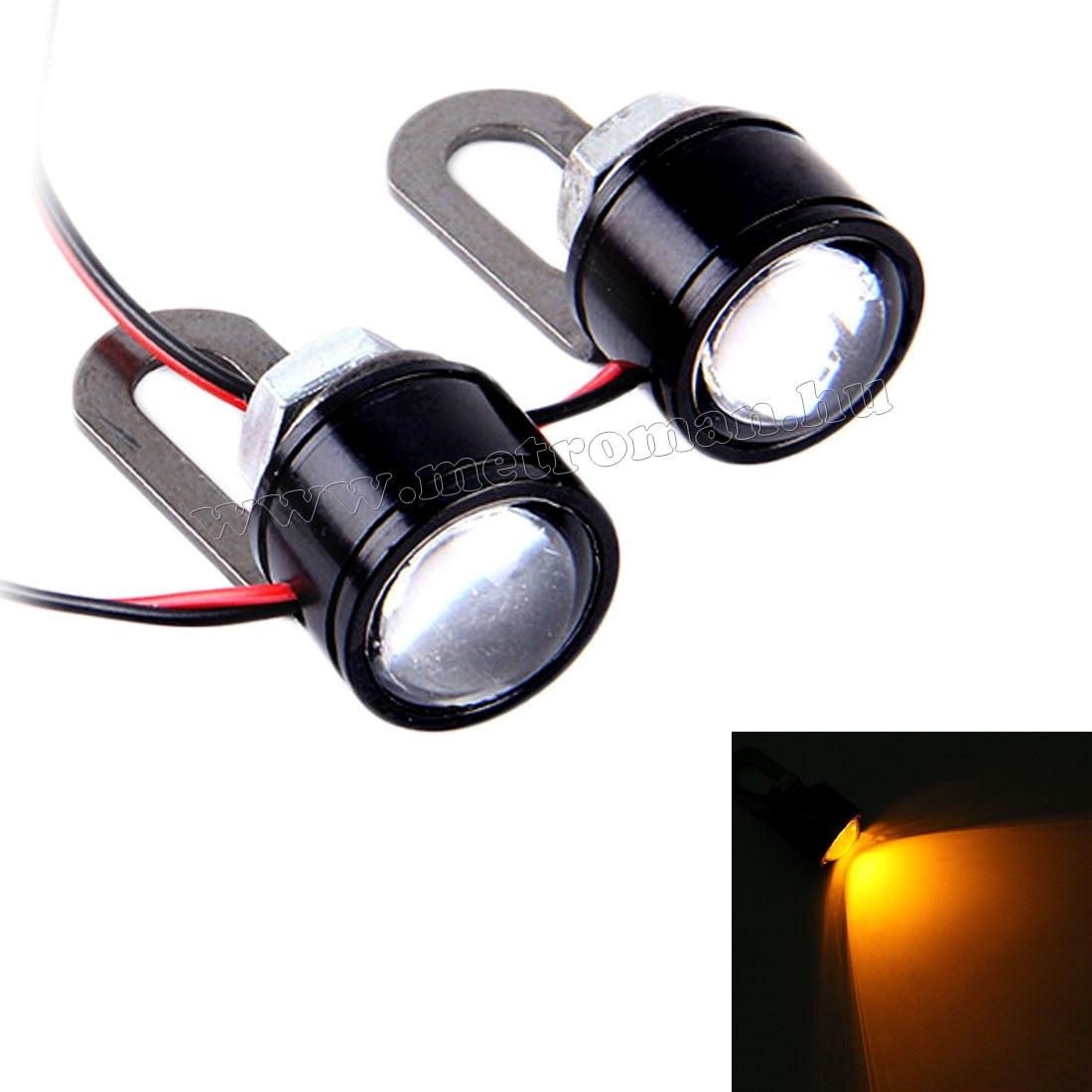 Mini fémházas LED stroboszkóp lámpa szett, Sárga Mlogic MM-1033YL