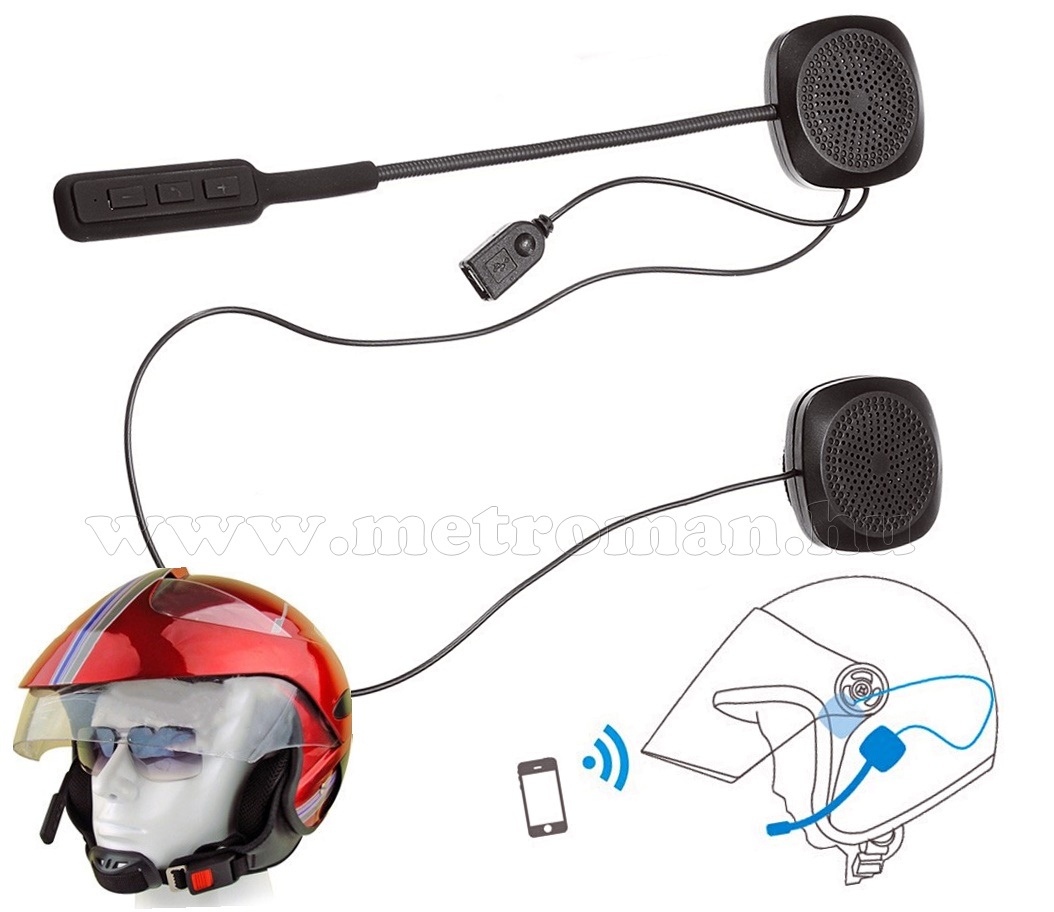 Motoros sisak kihangosító bluetooth headset MM1032BT