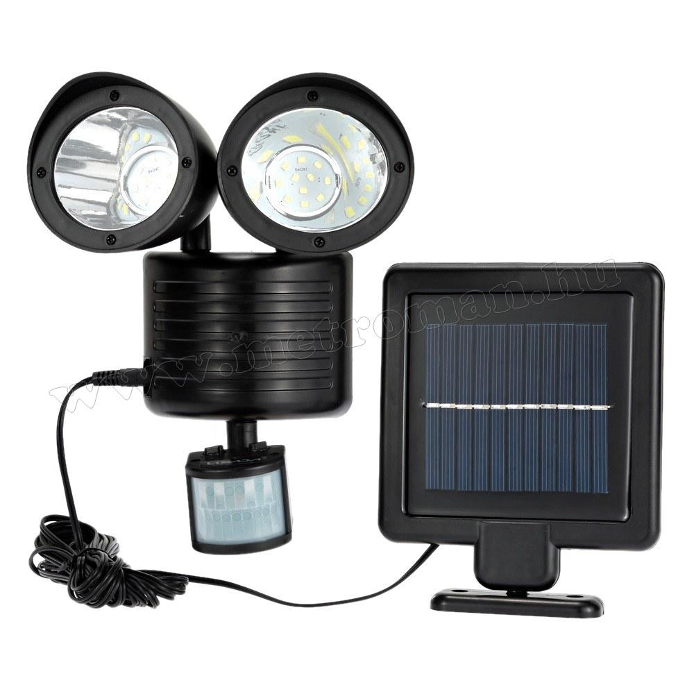 Napelemes, mozgásérzékelős LED reflektor M0695 Kültéri LED lámpa Reflektor