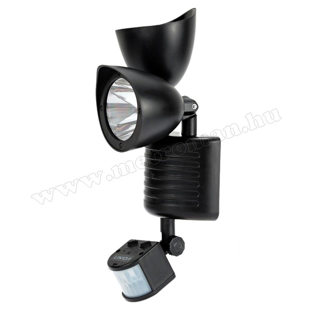 Napelemes, mozgásérzékelős LED reflektor M0695