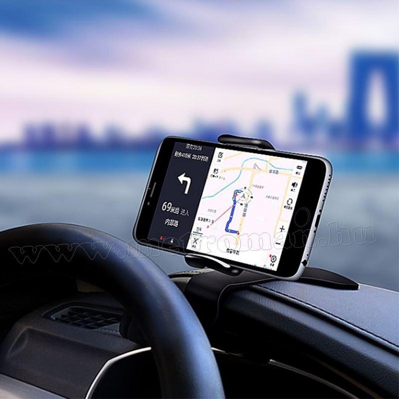 Autós szellőzőrácsra és műszerfalra csíptethető telefontartó MM6814