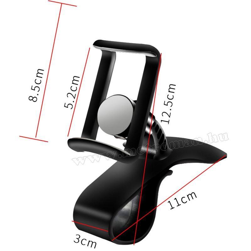 Autó műszerfalra csíptethető telefontartó MM6815