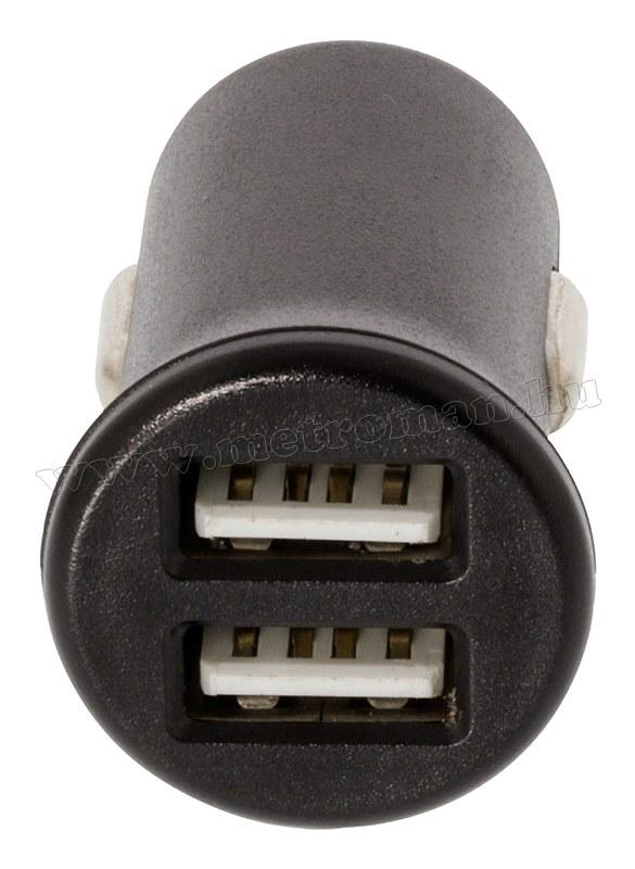 Szivargyújtós 12 V-os nagy teljesítményű USB töltő, 2400 mA Sweex CH-011