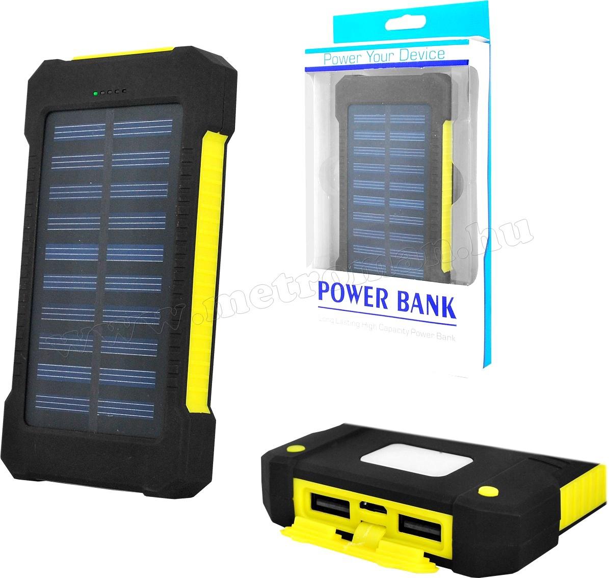 Napelemes külső akkumulátor és telefon töltő, 10000mAh MPB31