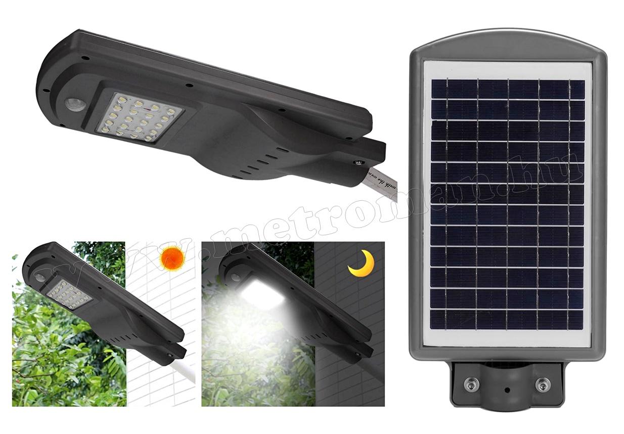 Napelemes udvari kerti LED világítás mozgásérzékelővel M1254