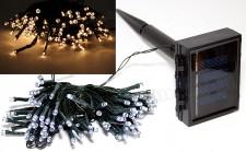 Napelemes Karácsonyi LED égősor, Kerti Fényfüzér, Kültéri, Cole & Bright Dual Power 100LED Meleg Fehér