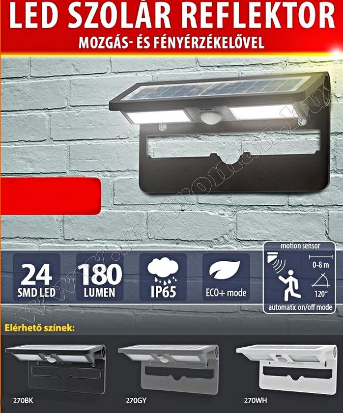 Kültéri napelemes LED reflektor M270BK