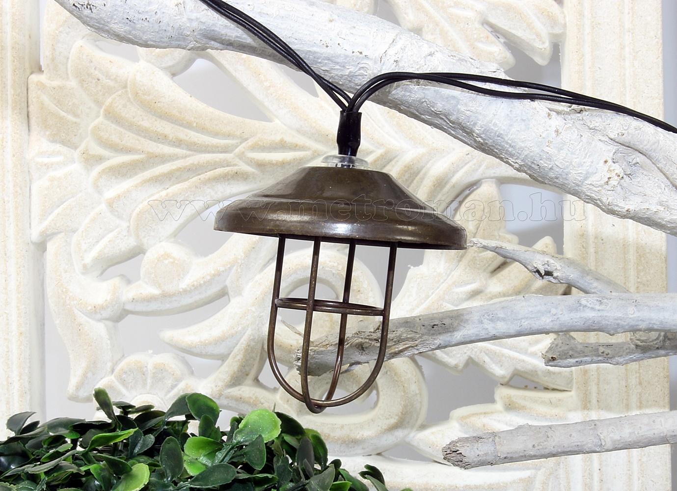Napelemes kültéri kerti Retro LED  fényfüzér és hangulat világítás Luxform Lanzarote Solar