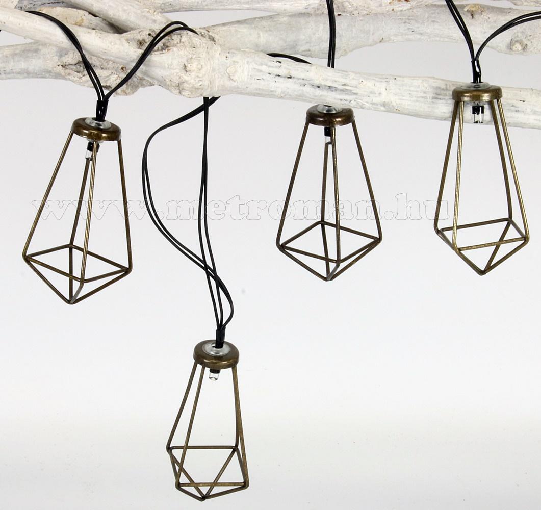 Napelemes kültéri kerti Retro LED  fényfüzér és hangulat világítás Luxform Malgrat Solar