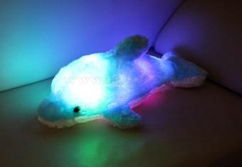 Plüss Delfin LED hangulat világítással PD 01/BL