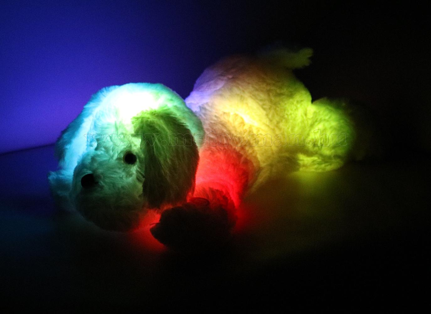 Plüsskutya LED hangulat világítással PK 01/WH