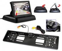 Rendszámtábla tolatókamera LCD monitorral Mlogic MR43MM3633