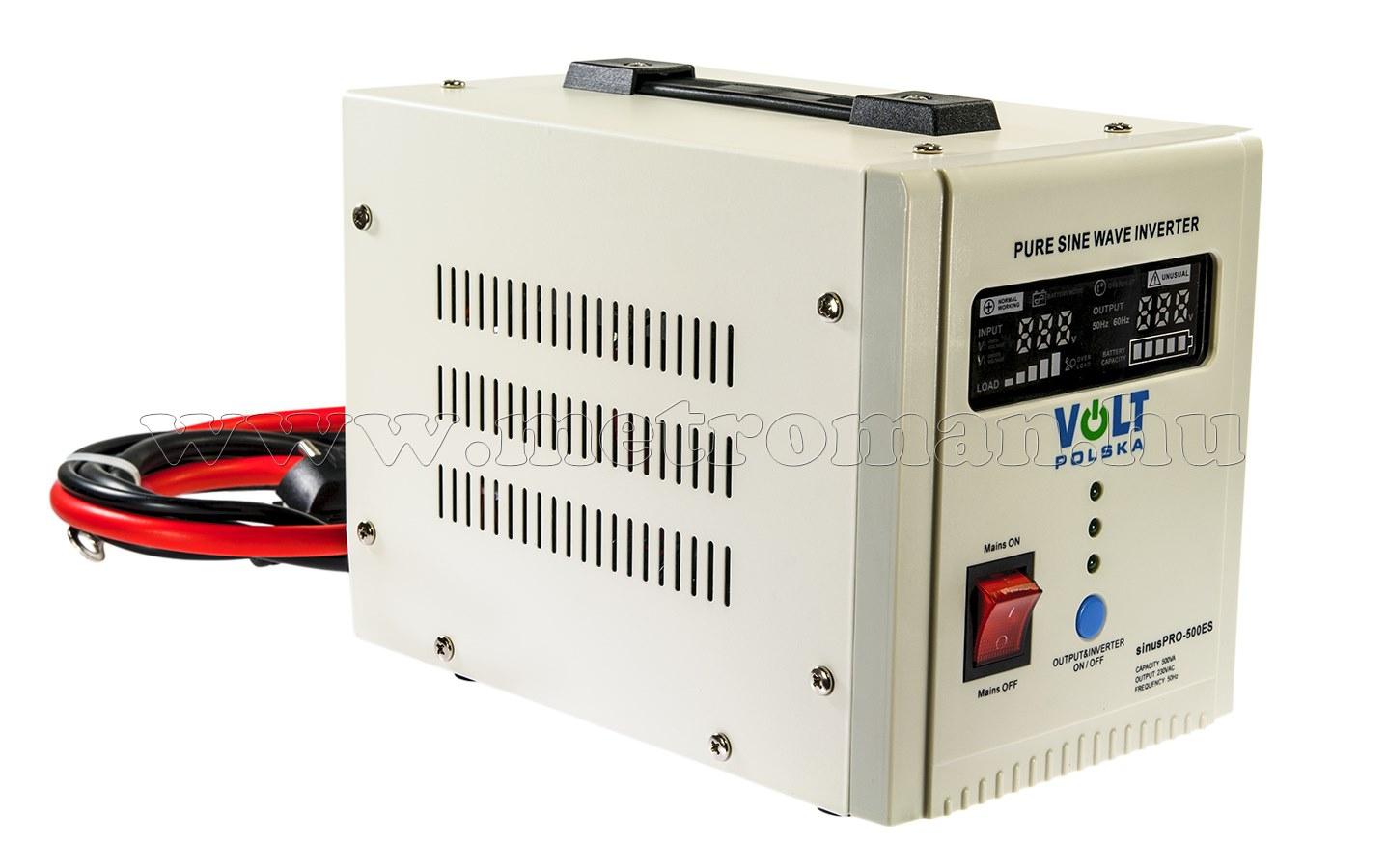 Szinusz inverter és UPS szünetmentes tápegység SinusPro-500