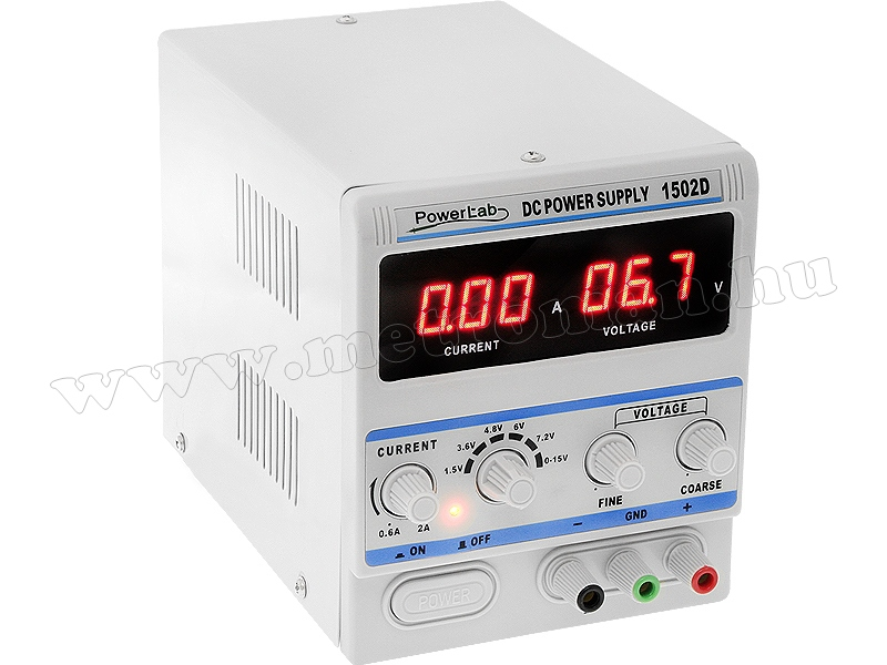 Univerzális szabályozható Labor tápegység 0-15 Volt 2 Amper M1502D