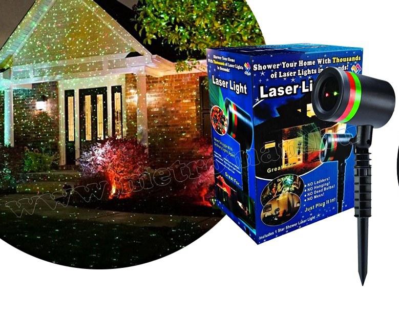 Színes lézer fény projektor, fényjáték M076