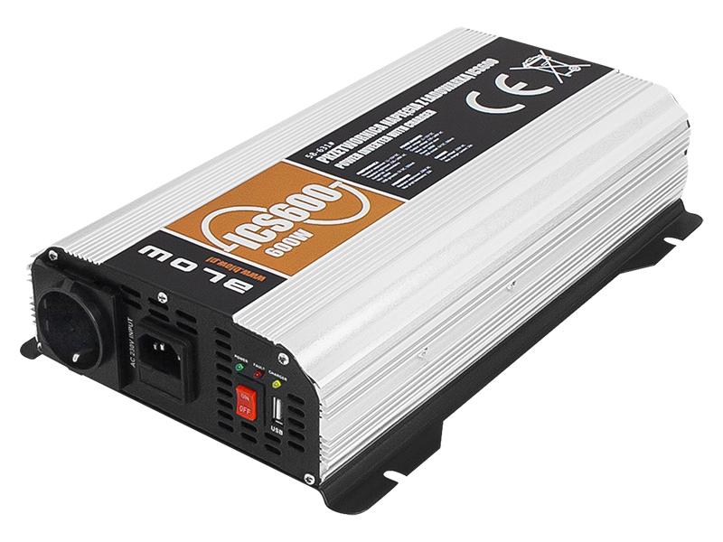 Feszültségátalakító Szinusz inverter 12/230V 600 Watt ICS600 Sinus