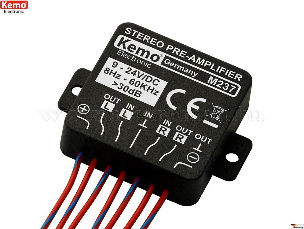 Univerzális Sztereó mikrofon előerősítő modul, KEMO M237