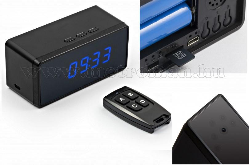 Órába rejtett SD kártyás, DVR rögzítős FHD kamera  Technaxx TX-76