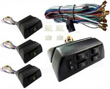 Univerzális elektromos ablakemelő kapcsoló szett 4 ablakos MM-T4WH