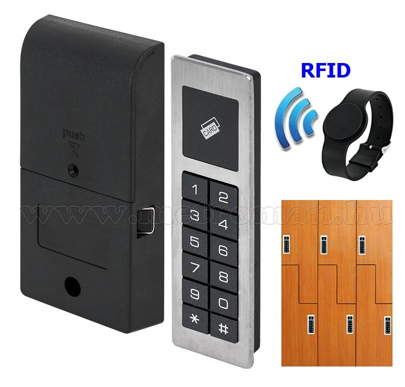 Kódos és RFID kártyás elektromos szekrényzár MD810