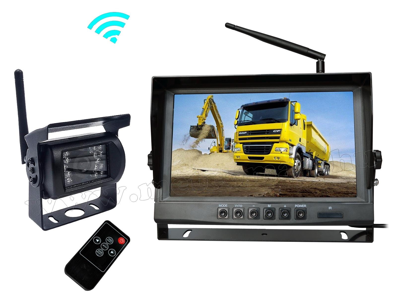 """Vezeték nélküli tolatókamera szett 9""""-os HD LCD monitorral MM9006WA/1 12/24 Volt"""