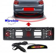 Vezeték nélküli tolatóradar rendszámtábla keretben LED kijelzővel Mlogic MM7148W