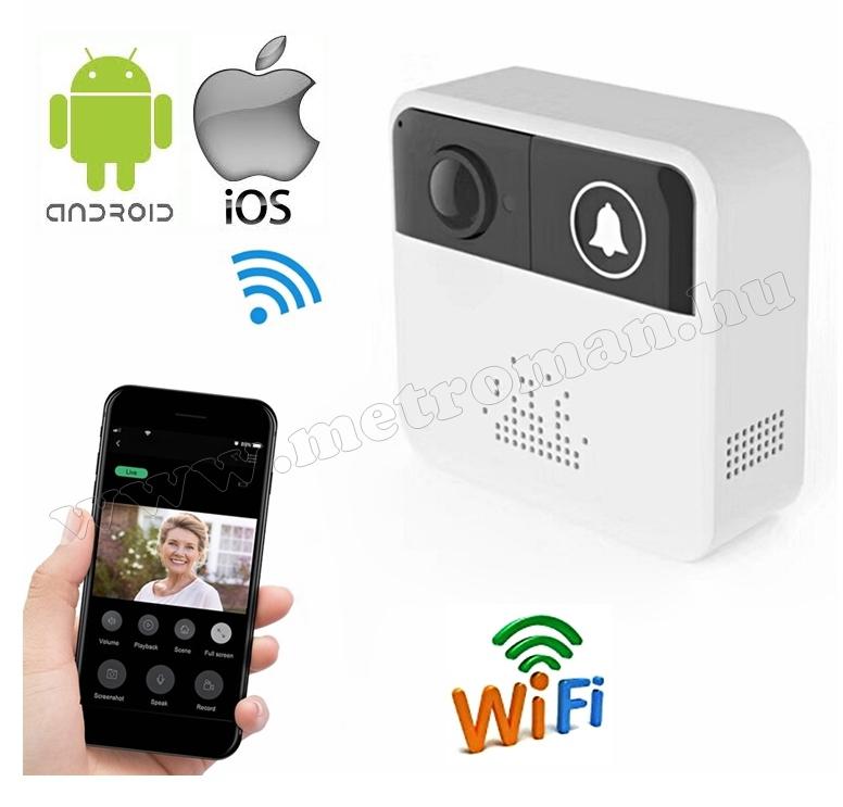 Vezeték nélküli, Wifi, Android, iOS Okos Video kaputelefon MM410