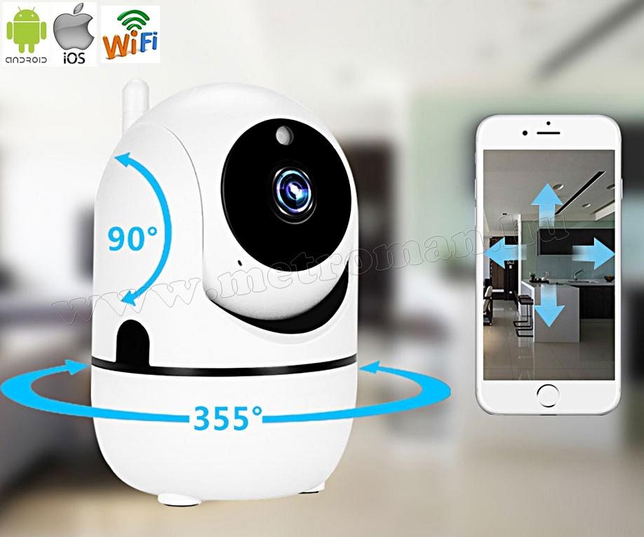 Vezeték nélküli Wifi IP, Android, forgatható SD DVR megfigyelő kamera  MQ10HD