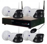 Wifi IP HD megfigyelő kamera és NVR videó rögzítő szett ZB-WN204 Wifi