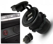 Beépíthető autós USB töltő aljzat M926RD